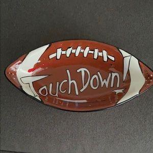 Football pottery bowl